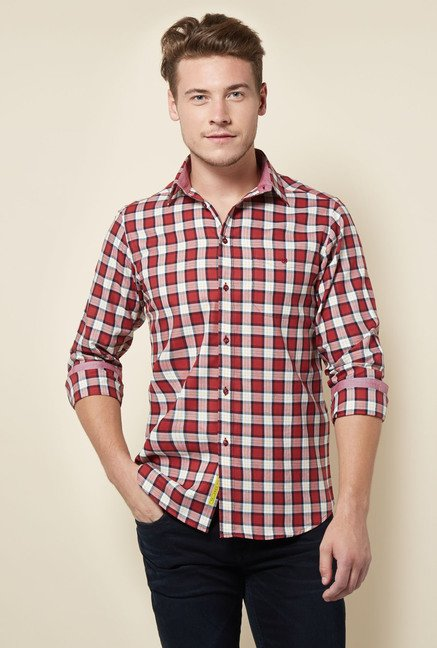 Integriti Maroon Checks Shirt