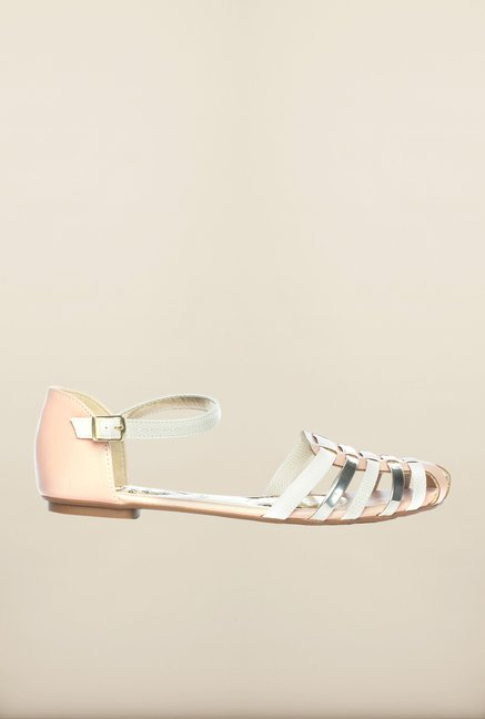 Pavers England Nude Ankle Strap Sandals