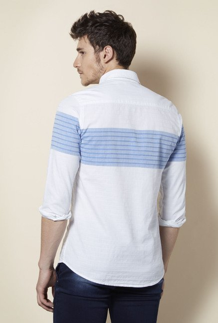 Integriti White & Blue Striped Shirt