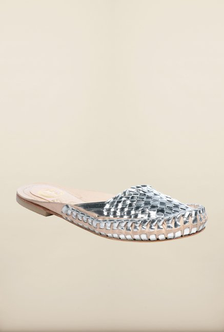 Pavers England Silver Mules