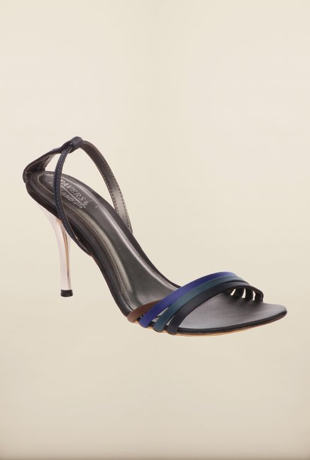 Pavers England Navy & Black Stilettos
