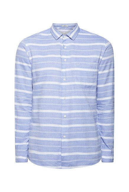 Integriti Blue & White Striped Shirt