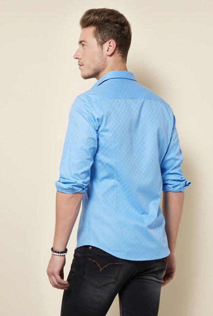 Integriti Blue Polka Dot Printed Shirt