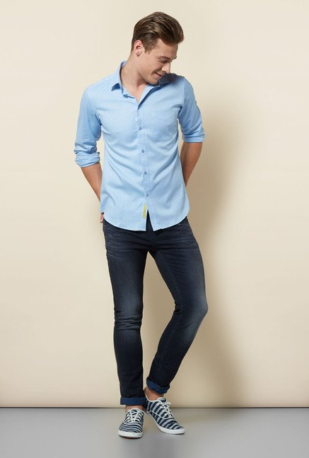 Integriti Light Blue Solid Shirt