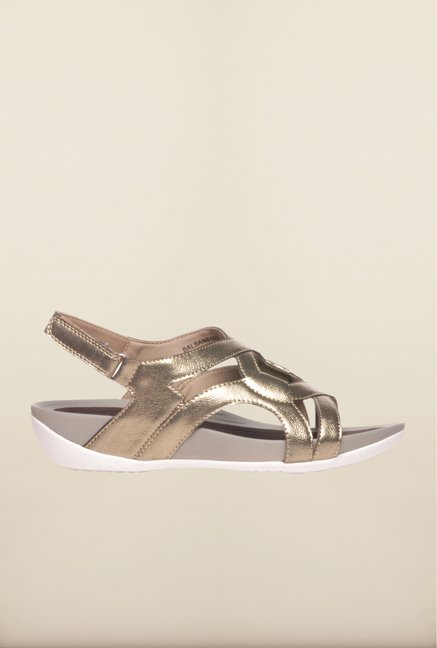 Pavers England Golden Back Strap Sandals