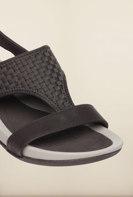 Pavers England Black Back Strap Sandals