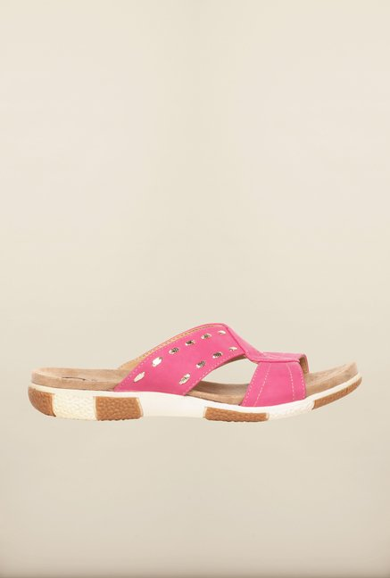 Pavers England Pink Flat Sandals