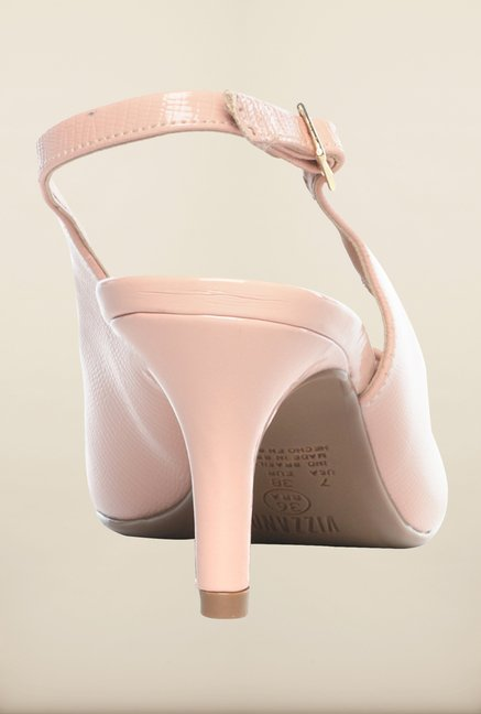 Pavers England Nude Back Strap Sandals