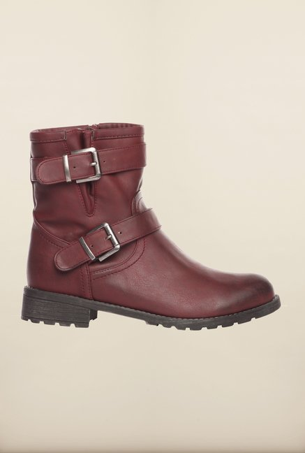 Pavers England Burgundy Booties