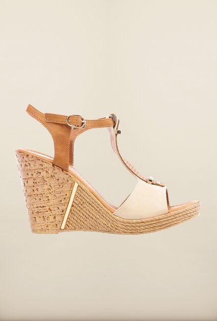 Pavers England Beige Wedges
