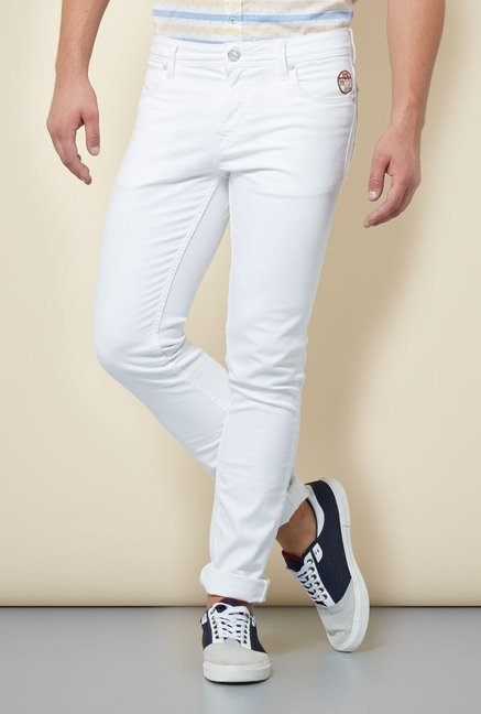 Integriti White Solid Jeans