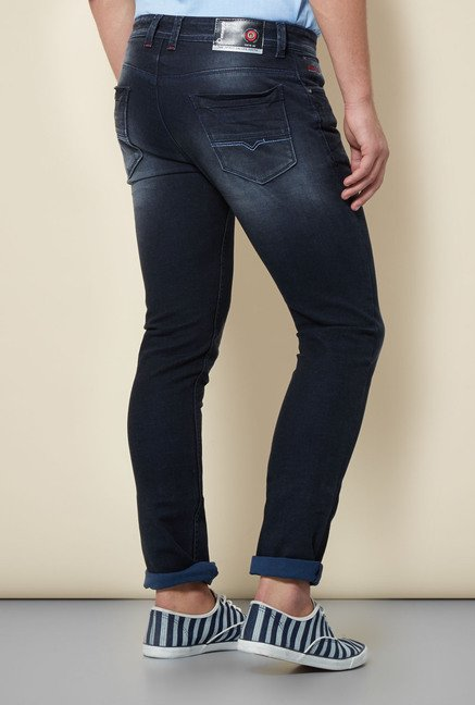 Integriti Dark Blue Cotton Jeans