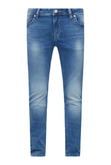 Integriti Blue Cotton Slim Fit Jeans