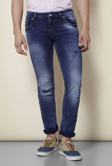Integriti Dark Blue Distressed Jeans