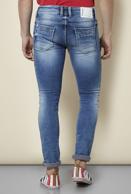 Integriti Blue Patchwork Tattered Jeans