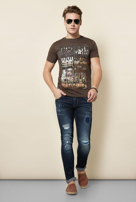 Integriti Navy Tattered Jeans