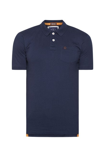 Integriti Navy Solid Polo T Shirt