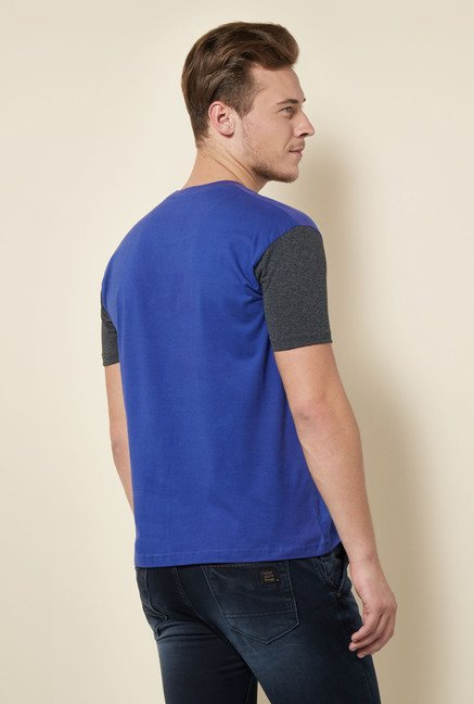 Integriti Blue Solid T Shirt