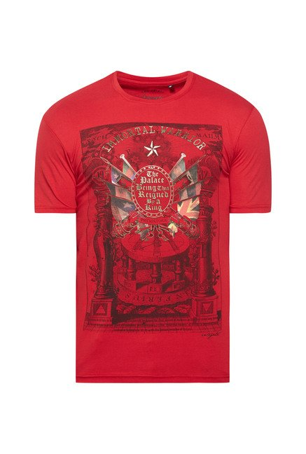 Integriti Red Printed T Shirt