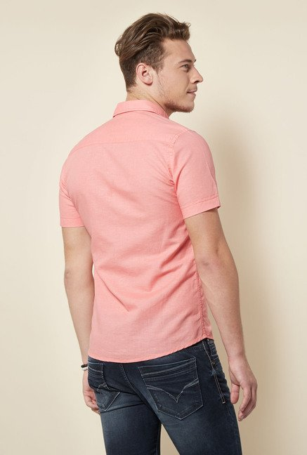 Integriti Peach Solid Shirt