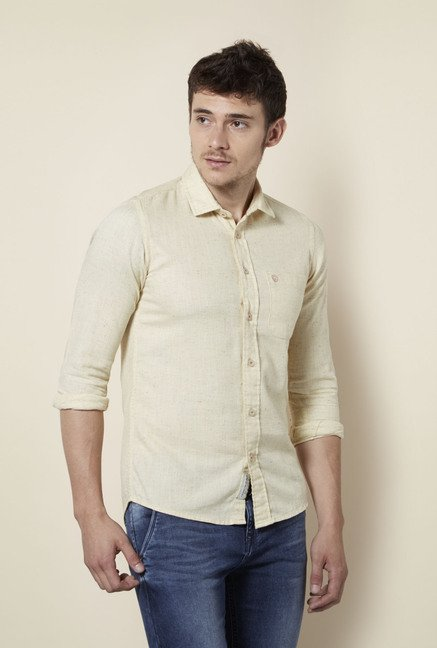 Integriti Beige Slim Fit Shirt