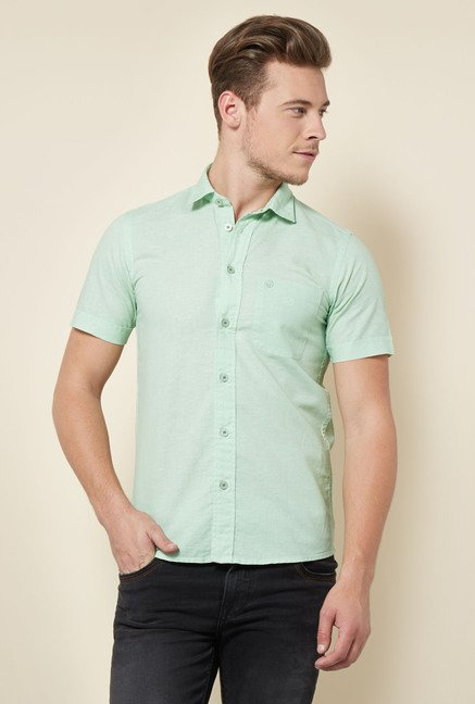 Integriti Mint Green Solid Shirt