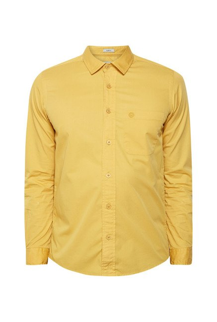Integriti Mustard Solid Shirt