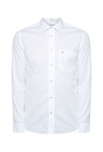 Integriti White Solid Shirt