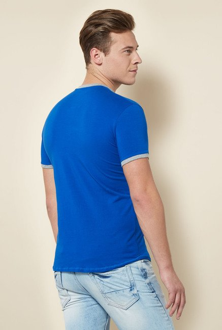 Integriti Royal Blue Solid T Shirt