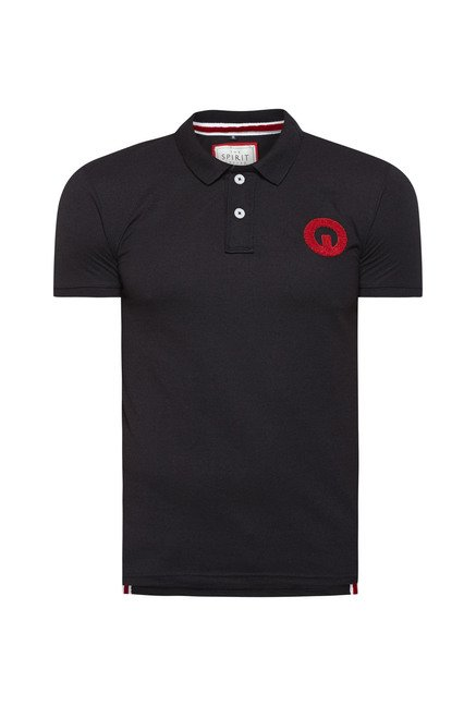 Integriti Black Solid Slim Fit T Shirt