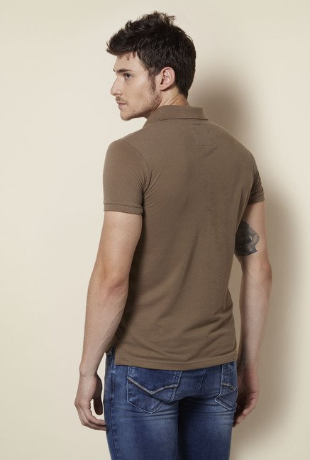 Integriti Brown Solid T Shirt