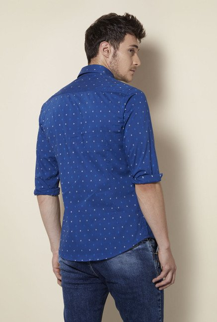 Integriti Navy Cotton Shirt