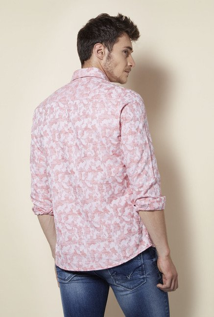 Integriti Pink Printed Cotton Shirt