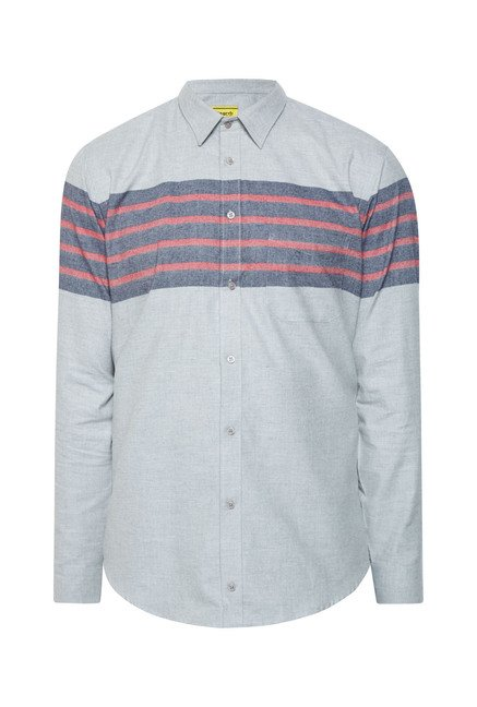 Integriti Grey & Red Striped Shirt