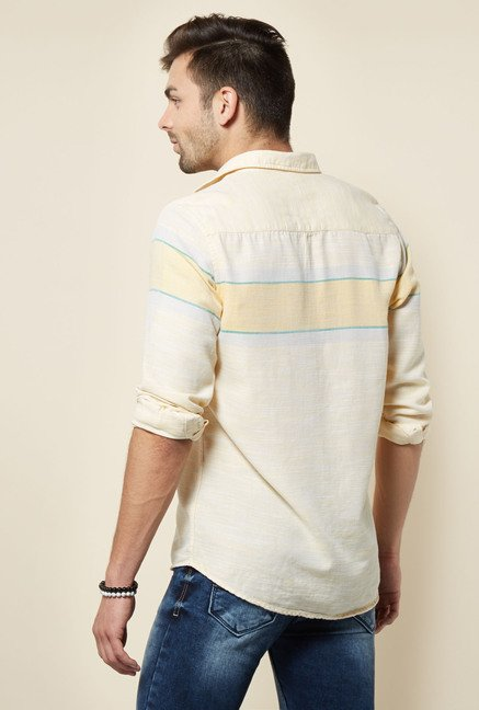 Integriti Yellow Striped Cotton Shirt