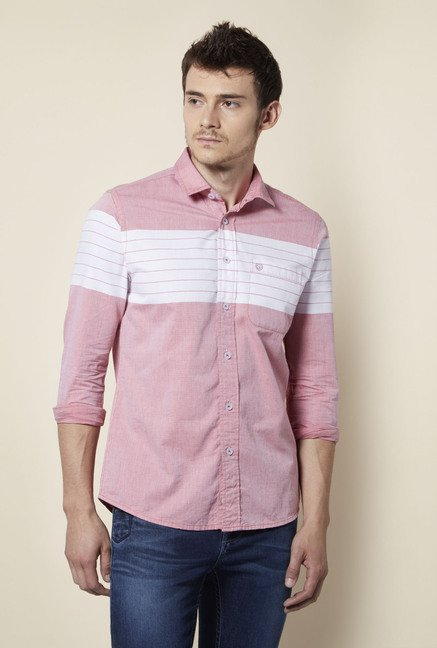 Integriti Pink & White Striped Shirt