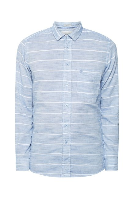 Integriti Blue & White Striped Cotton Shirt