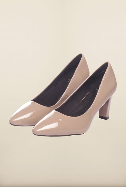 Pavers England Taupe Pumps