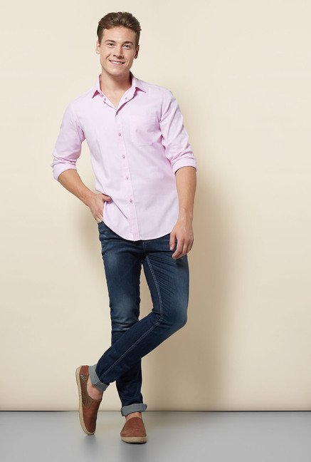 Integriti Light Pink Solid Shirt