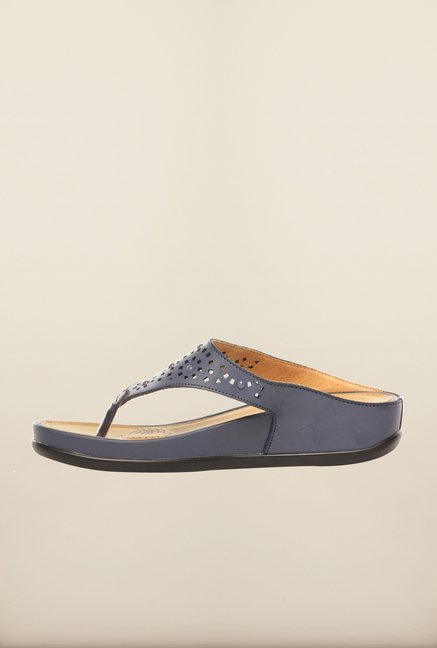 Pavers England Blue Platform Sandals