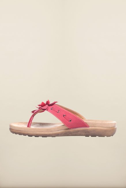 Pavers England Pink Platform Slippers