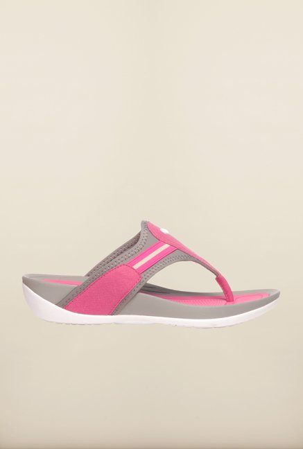 Pavers England Pink & Grey Slippers