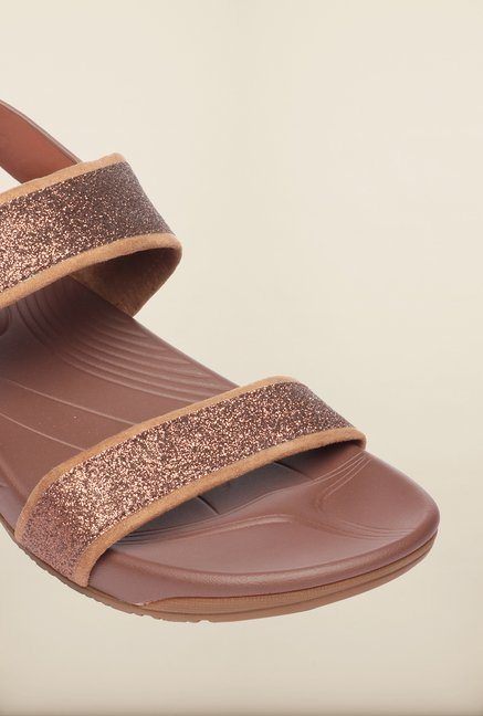 Pavers England Brown Back Strap Sandals