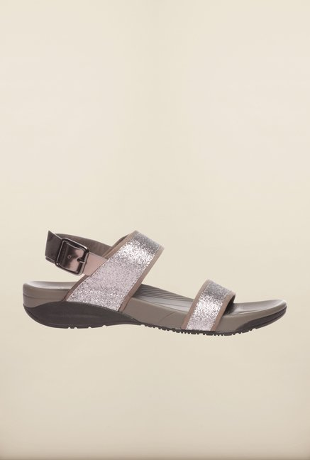 Pavers England Grey Back Strap Sandals