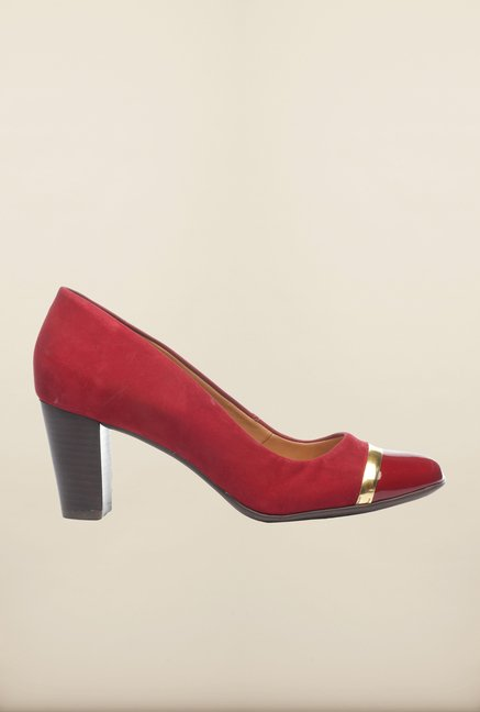 Pavers England Burgundy Pumps