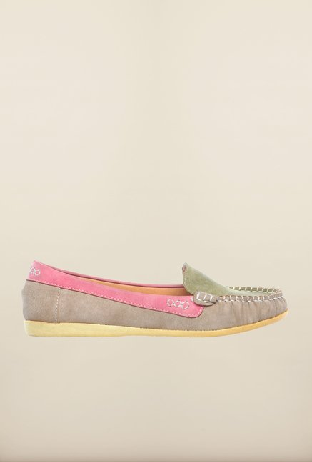 Pavers England Green & Beige Loafers