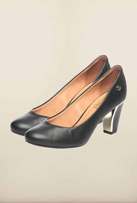 Pavers England Black Pumps