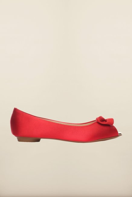 Pavers England Red Peeptoe Shoes