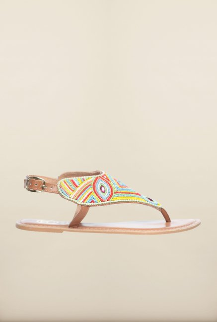 Pavers England Multicolor Flat Ethnic Sandals