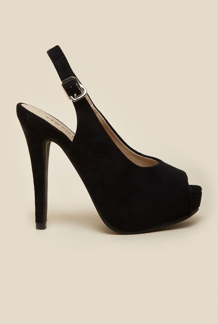 Metro Black Sling Back Stilettos